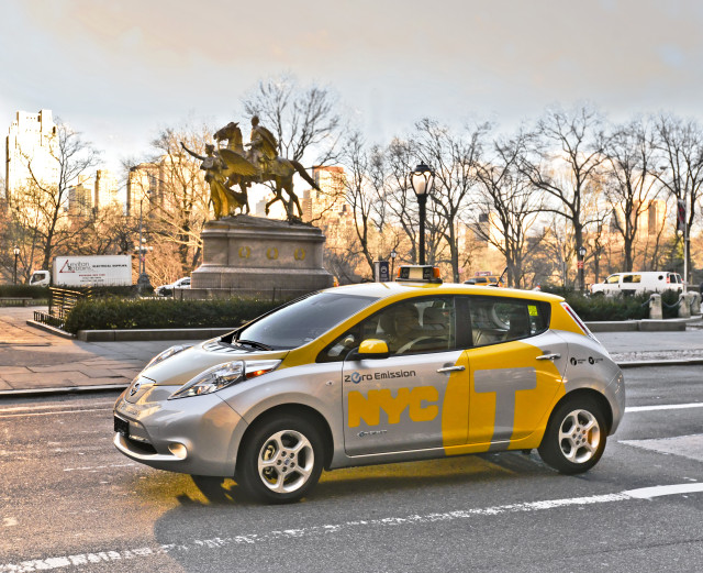 Nissan, New York City Launch LEAF Electric Vehicle Taxi Pilot