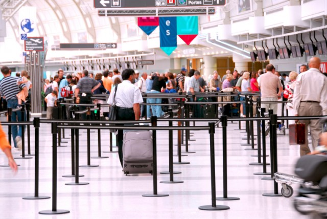 Airport crowd, travel