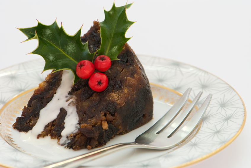 Christmas Pudding Slice, cake