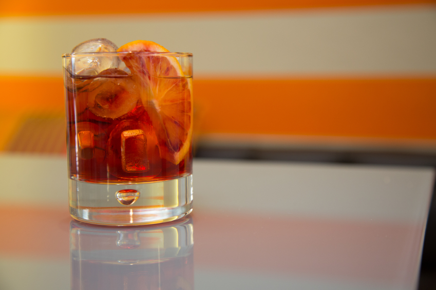 Negroni, cocktail, drink