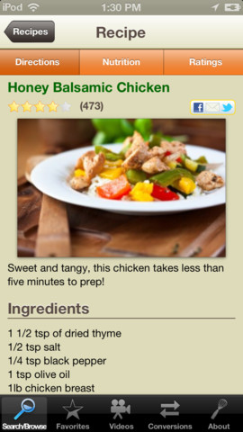 SparkRecipes, food, recipes, app