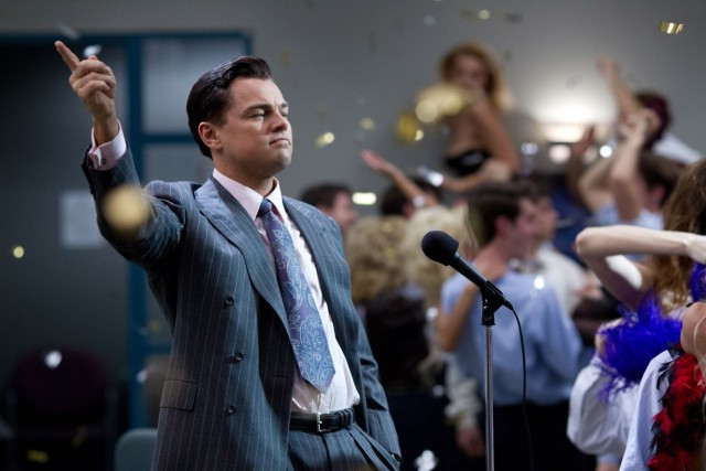 Leonardo DiCaprio in The Wolf of Wall Street