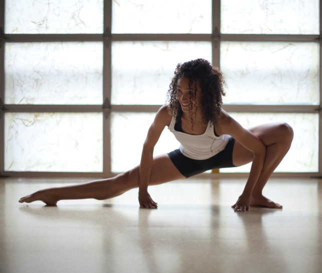 woman, fitness, exercise, lunges, stretch