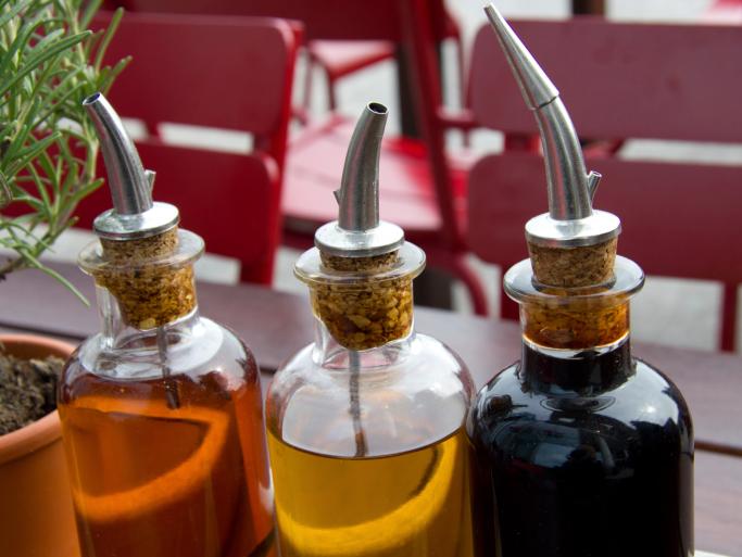an assortment of vinaigrettes