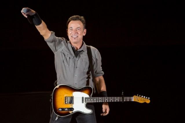 Bruce Springsteen in concert.