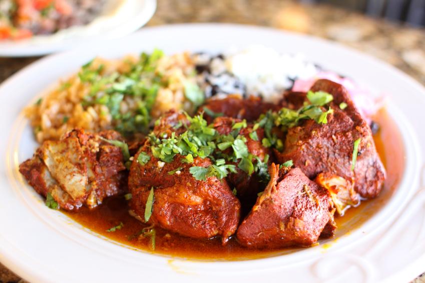 Cochinita pibil with rice
