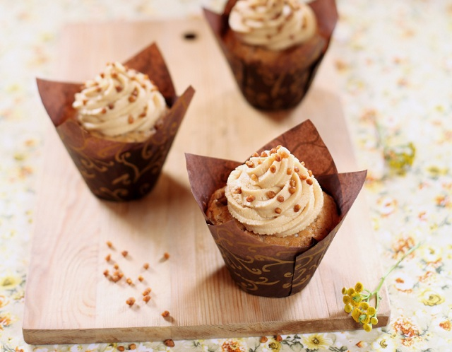 peanut butter cupcakes with frosting