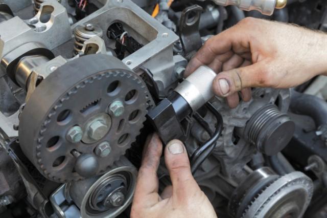 car mechanic engine fix