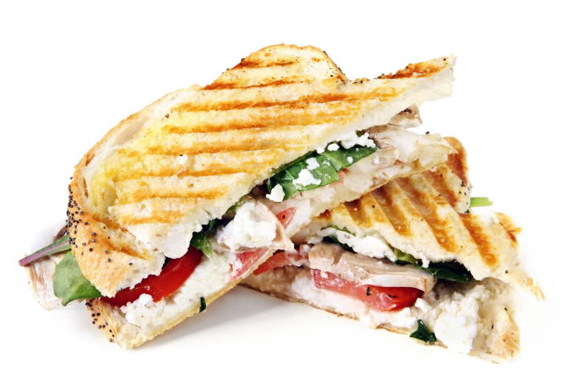 Panini with turkey and bacon