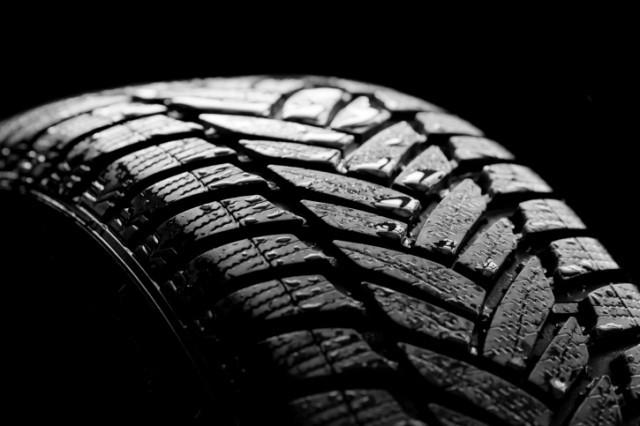 wet tire tread