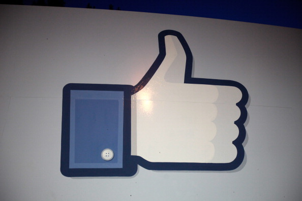 A 'like' sign stands at the entrance of Facebook headquarters - Source: Stephen Lam/Getty Images