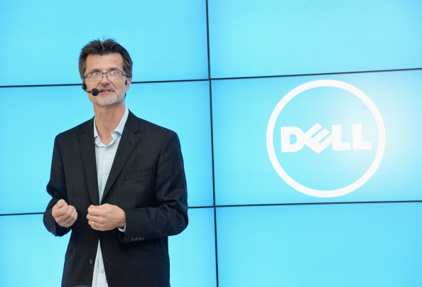 Neil Hand speaks at Dell Press Conference - Source: Mike Coppola/Getty Images for DELL