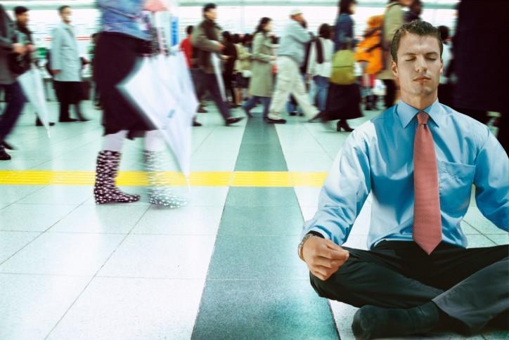 Man sitting down in a terminal