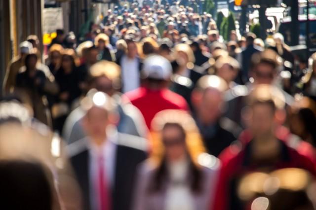 crowded city street