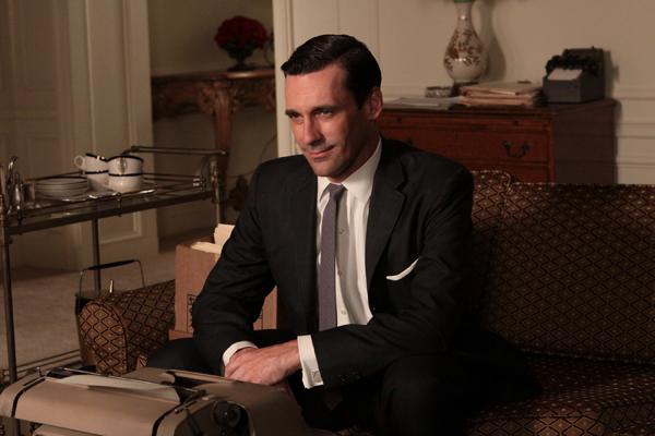 Jon Hamm in Mad Men.