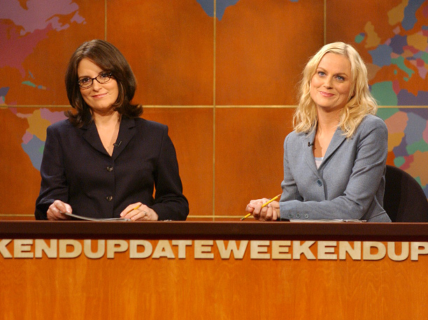 Amy Poehler, Tina Fey, SNL, Weekend Update, news anchors, journalism