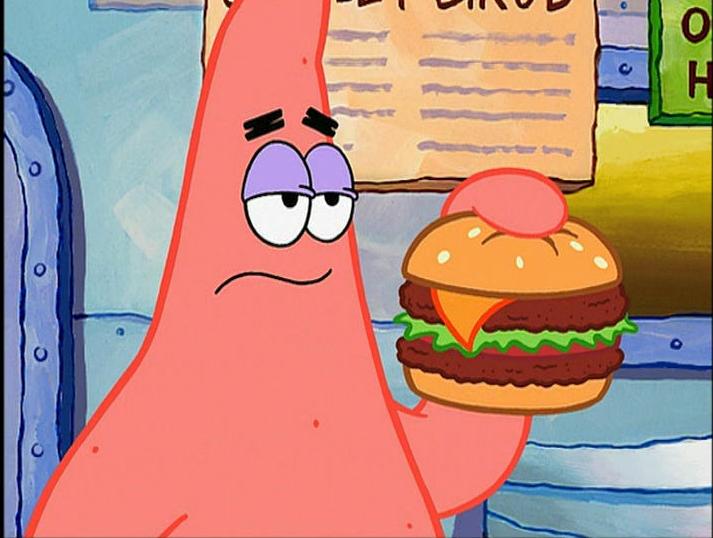 source: http://spongebob.wikia.com/wiki/Krabby_Patty?file=DeluxeKrabbyPatty.jpg