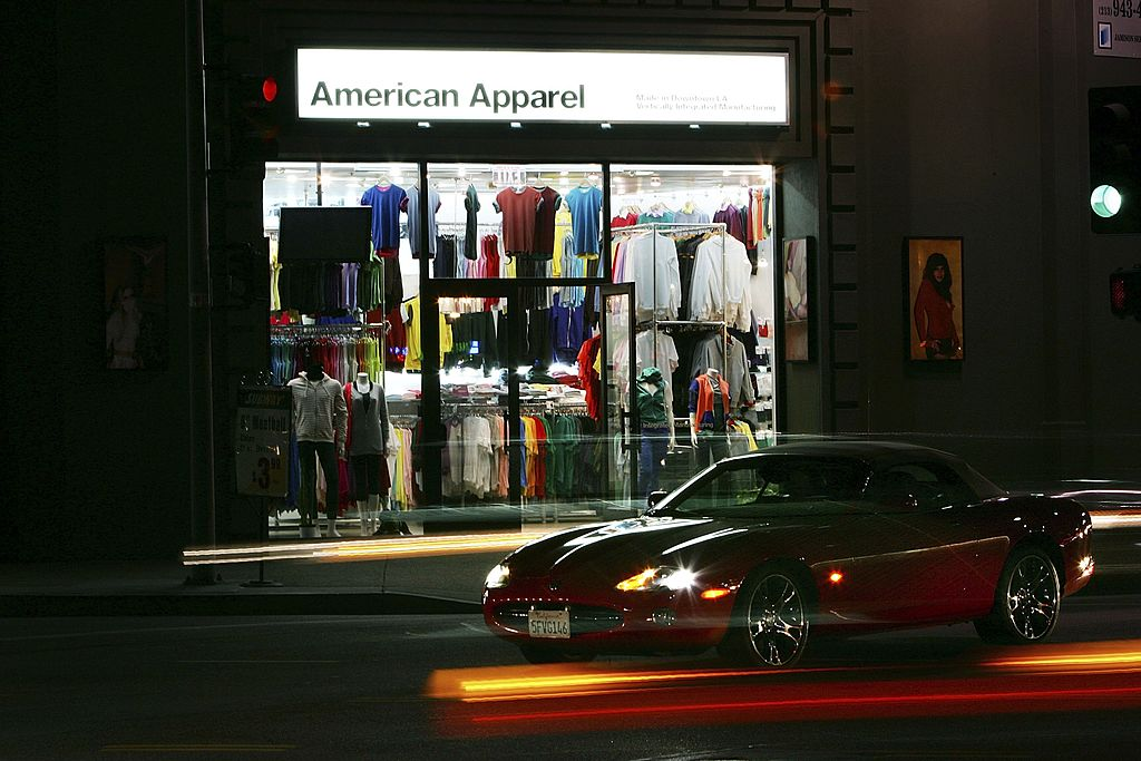 An American Apparel store in Los Angeles, California in 2006