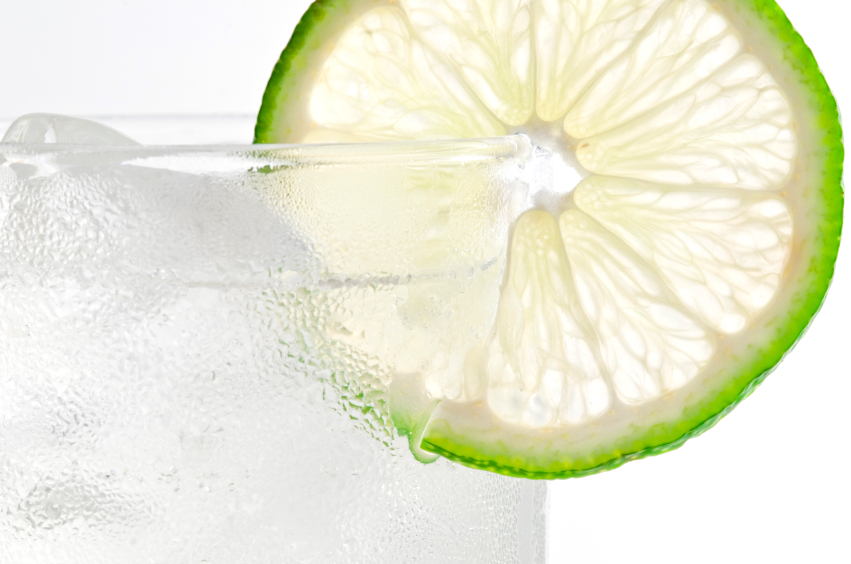 cocktail with lime