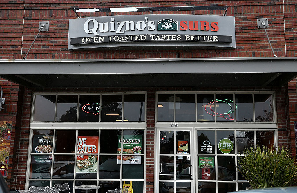 A Quiznos Subs sandwich shop in 2014 in Richmond, California
