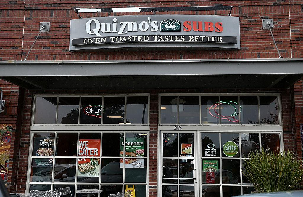 A Quiznos Subs sandwich shop in 2014 in Richmond, California