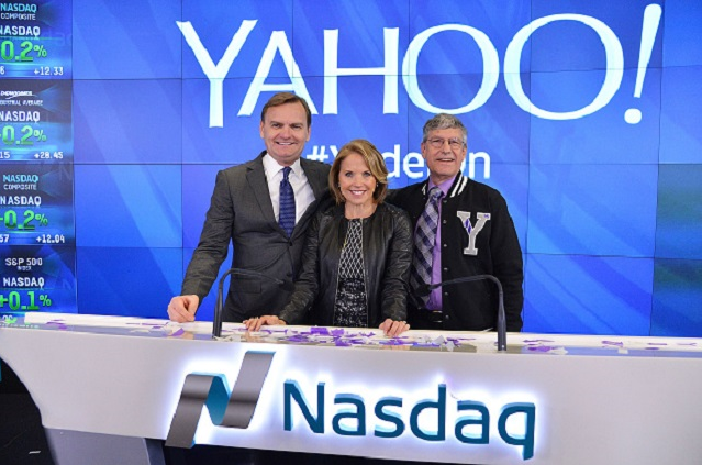 Yahoo! Inc. Celebrates 20 Years at Nasdaq - Source:  Slaven Vlasic/Getty Images