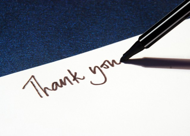 thank you, gratitude, letter, writing