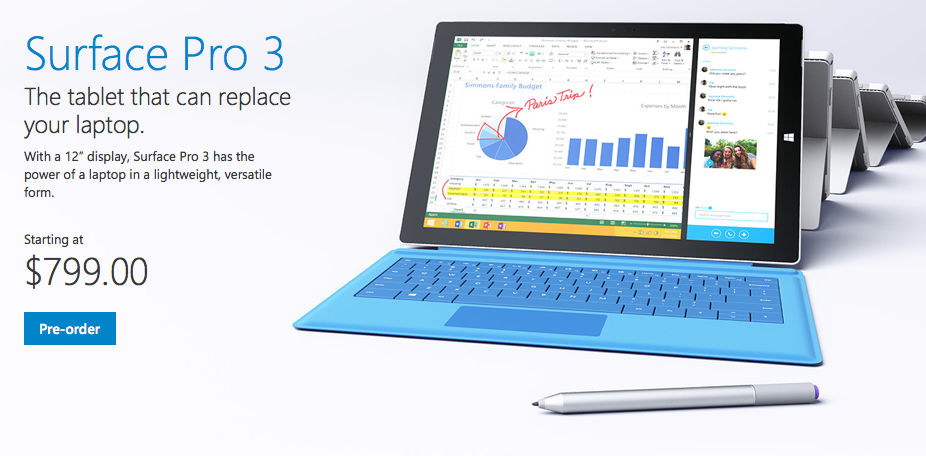 Microsoft, Surface Pro 3, tablet
