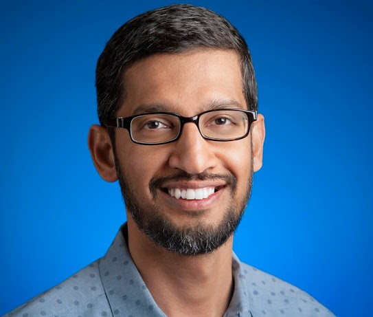 Source: https://plus.google.com/+SundarPichai/posts