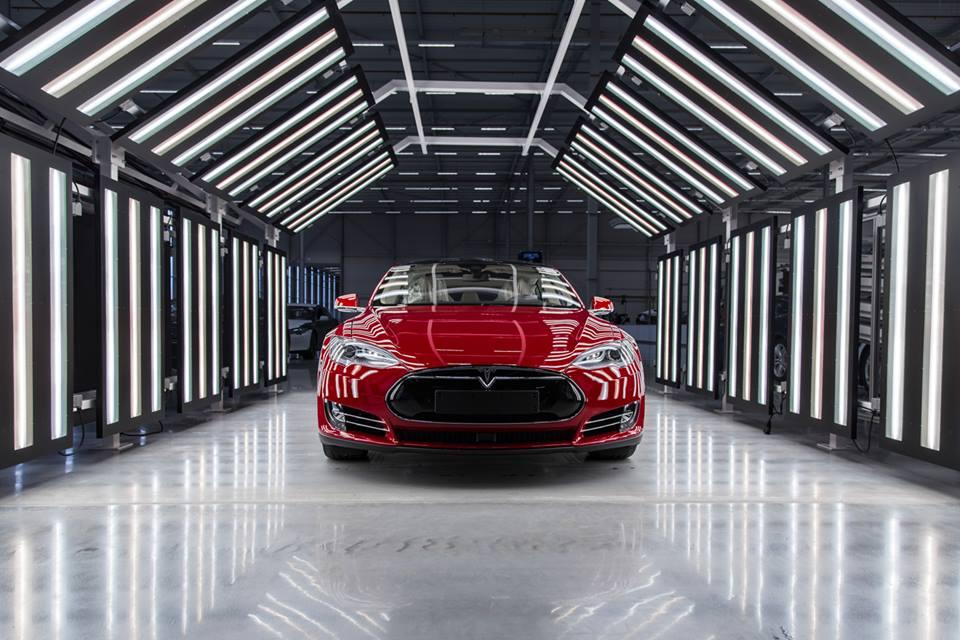 Front view of a Tesla Model S sedan