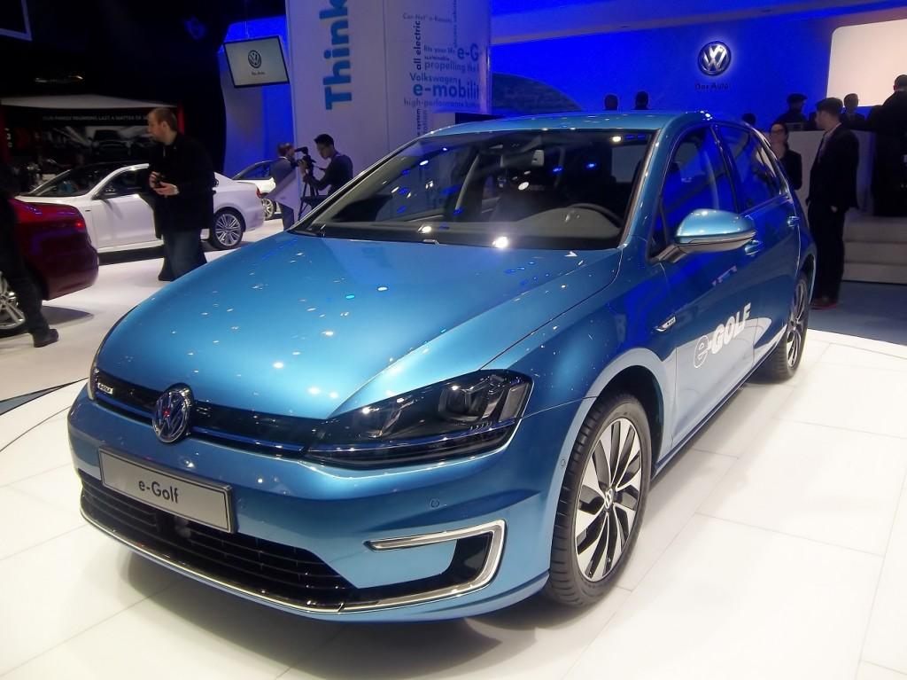 VW E-Golf NY Auto Show EMS