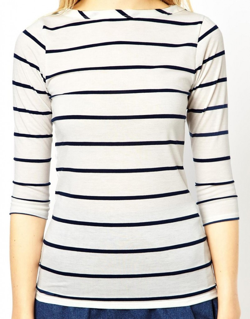 source: http://us.asos.com/ASOS-PETITE-Exclusive-Slash-Neck-3-4-Sleeve-Breton-Stripe-Top/120koq/?iid=3618785&SearchQuery=breton%20stripe&Rf-700=1000&sh=0&pge=0&pgesize=36&sort=-1&clr=Navywhite&r=2&mporgp=L0FTT1MtUGV0aXRlL0FTT1MtUEVUSVRFLUV4Y2x1c2l2ZS1TbGFzaC1OZWNrLTMvNC1TbGVldmUtQnJldG9uLVN0cmlwZS1Ub3AvUHJvZC8.