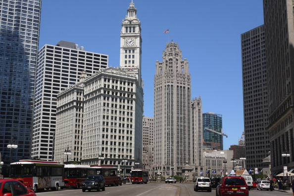 Downtown view in Illinois