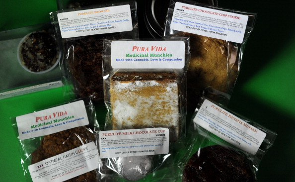 Packaged marijuana edibles