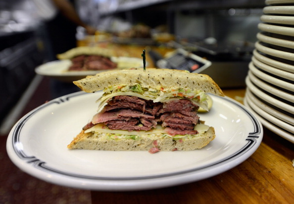pastrami sandwich on a plate