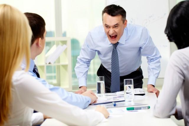 bad boss yelling