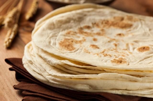 stack of tortillas