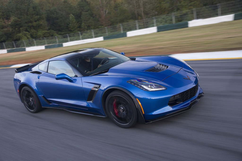 A blue 2016 Chevrolet Corvette Z06