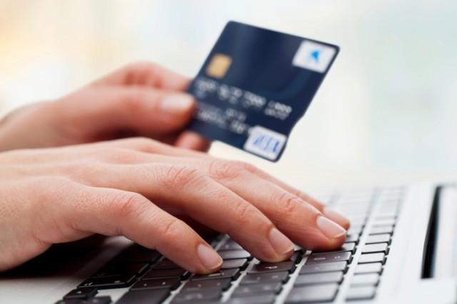credit card and keyboard