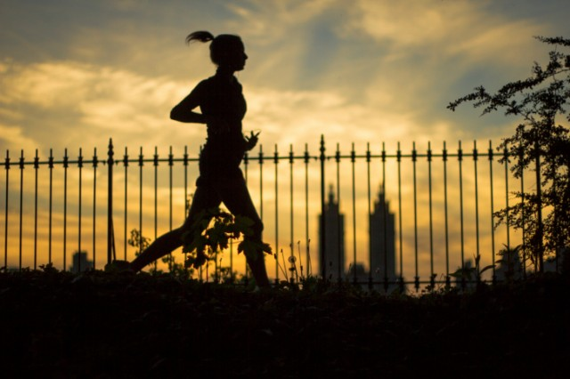 Woman going for a run