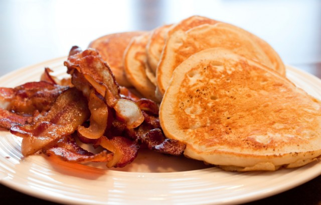 pancakes with bacon