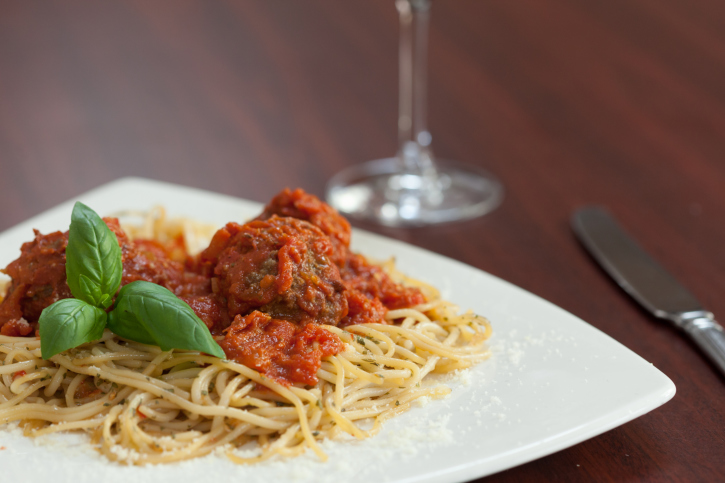 ... up your classic spaghetti and meatballs with Sriracha   Thinkstock