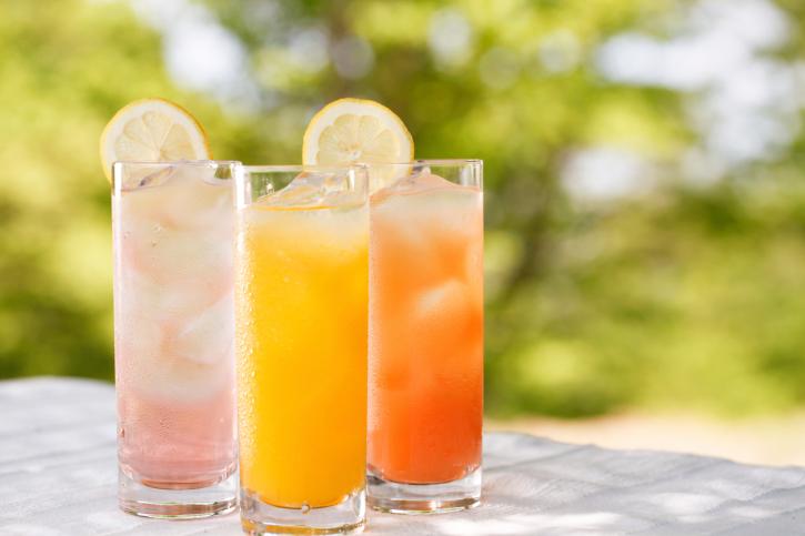 an assortment of screwdriver cocktails