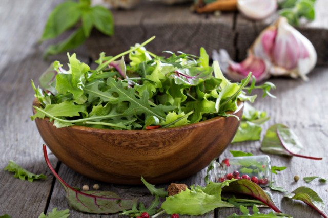arugula in a bowl