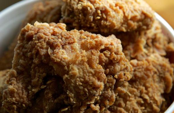 fried chicken in a bucket