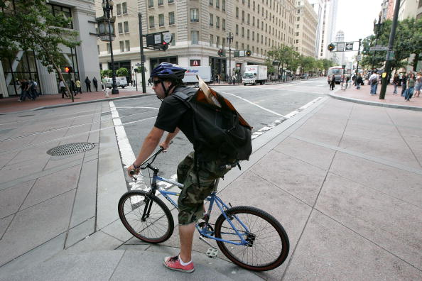A bicycle courier