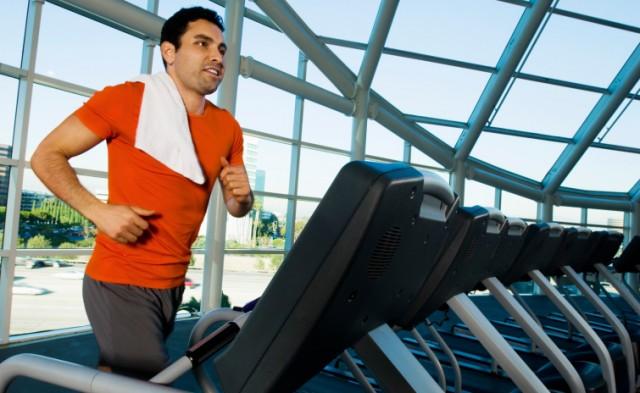 running on the treadmill
