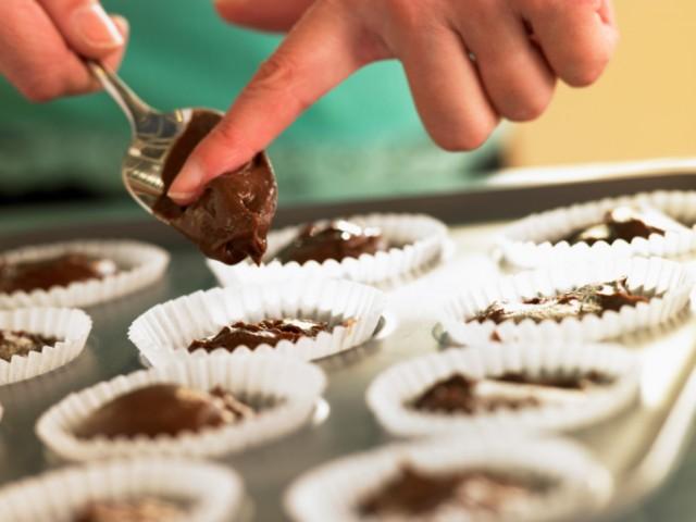 Making German chocolate cake cupcakes