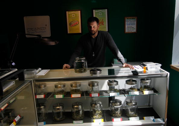A marijuana retail shop budtender