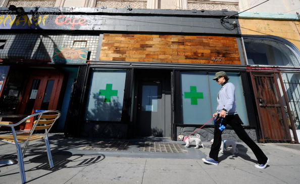 The Sunset Junction medical marijuana dispensary is seen on May 11, 2010 in Los Angeles, California (Photo source: Kevork Djansezian/Getty Images)